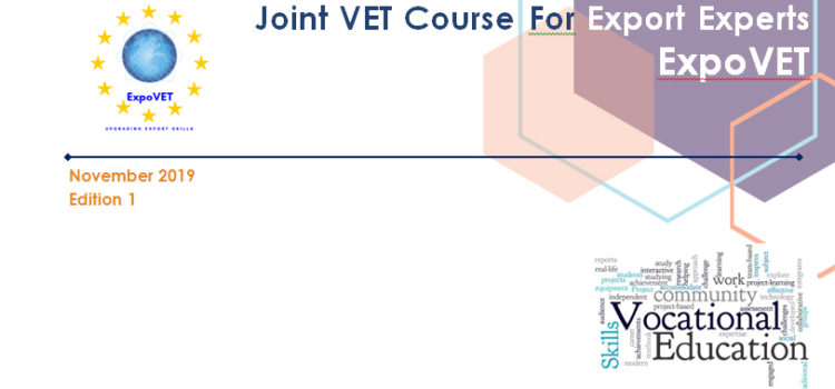 Newsletter Joint VET Course For Export Experts  November 2019