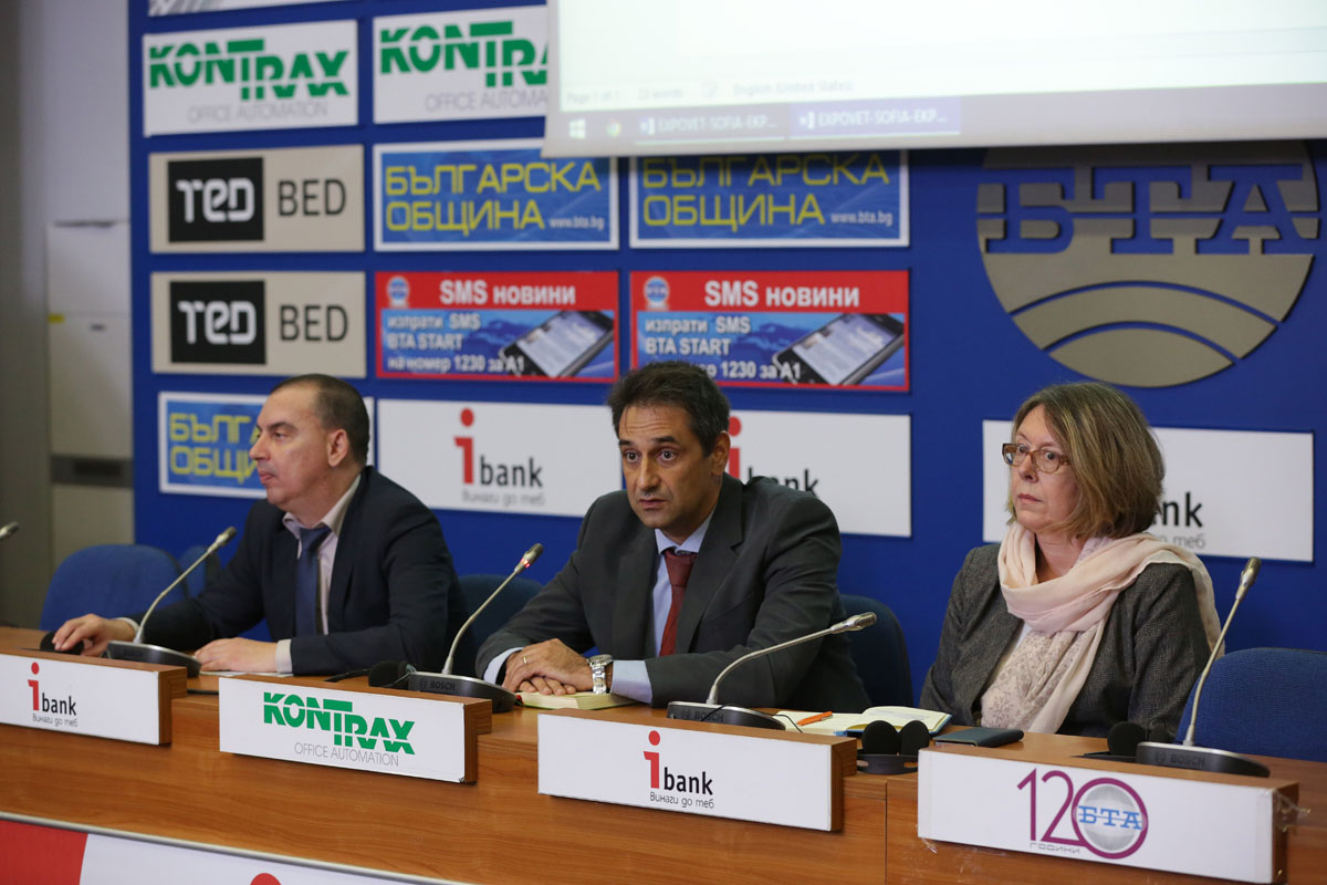 Press conference in Sofia